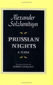 PRUSSIAN NIGHTS by Robert Conquest