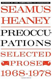 PREOCCUPATIONS: Selected Prose 1968-1978 by Seamus Heaney