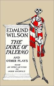 THE DUKE OF PALERMO AND OTHER PLAYS by Edmund Wilson