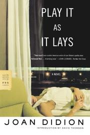 Cover art for PLAY IT AS IT LAYS