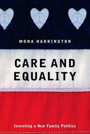Cover art for CARE AND EQUALITY