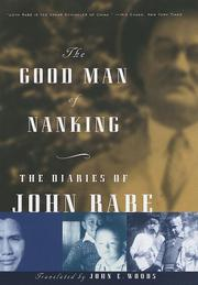 Cover art for THE GOOD MAN OF NANKING