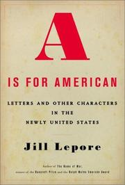 Book Cover for A IS FOR AMERICAN