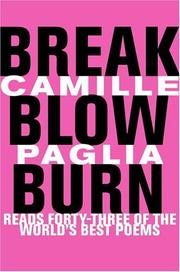 Book Cover for BREAK, BLOW, BURN