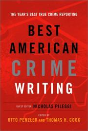 Book Cover for THE BEST AMERICAN CRIME WRITING
