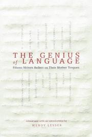 Cover art for THE GENIUS OF LANGUAGE