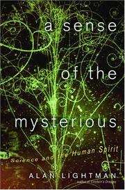 Cover art for A SENSE OF THE MYSTERIOUS