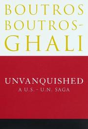 UNVANQUISHED by Boutros Boutros-Ghali