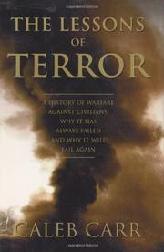 Cover art for THE LESSONS OF TERROR
