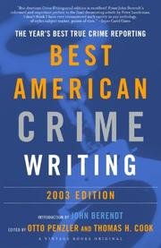 THE BEST AMERICAN CRIME WRITING 2003 by John Berendt