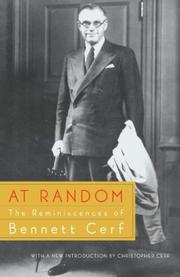 AT RANDOM: The Reminiscences of Bennett Cerf by Bennett Cerf