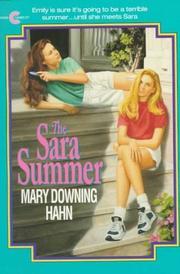 THE SARA SUMMER by Mary Downing Hahn
