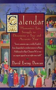 CALENDAR by David Ewing Duncan