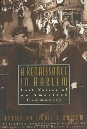 A RENAISSANCE IN HARLEM by Lionel C. Bascom