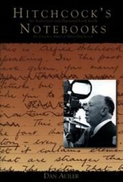 HITCHCOCK'S NOTEBOOKS by Dan Auiler