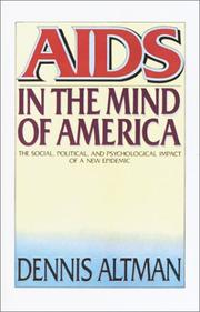 AIDS in the Mind of America by Dennis Altman