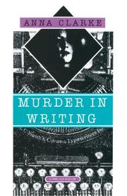 MURDER IN WRITING by Anna Clarke