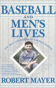 Book Cover for BASEBALL AND MEN'S LIVES
