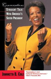 CONVERSATIONS: Straight Talk with America's Sister President by Johnnetta B. Cole