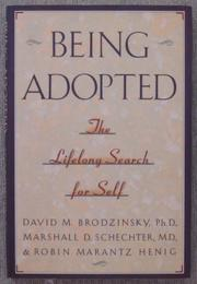 Book Cover for BEING ADOPTED