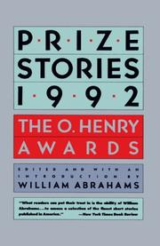 PRIZE STORIES 1992: The O. Henry Awards by William--Ed. Abrahams