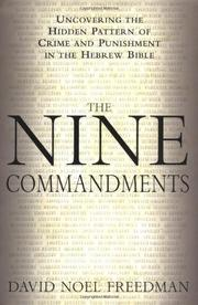 THE NINE COMMANDMENTS by David Noel Freedman