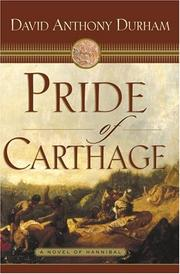 PRIDE OF CARTHAGE by David Anthony Durham