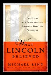 Book Cover for WHAT LINCOLN BELIEVED