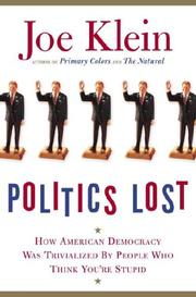 Book Cover for POLITICS LOST