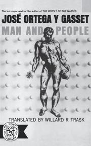 MAN AND PEOPLE by Jose Ortega y Gasset