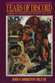 YEARS OF DISCORD by John Morton Blum