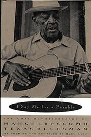 I SAY ME FOR A PARABLE by Glen Alyn