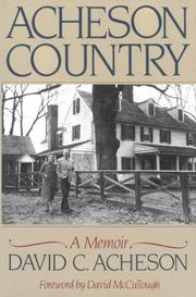ACHESON COUNTRY by David C. Acheson