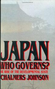 Cover art for JAPAN: WHO GOVERNS?