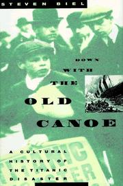 Cover art for DOWN WITH THE OLD CANOE