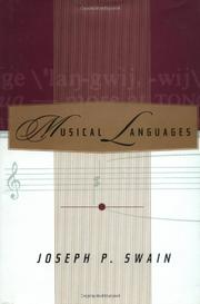 MUSICAL LANGUAGES by Joseph P. Swain