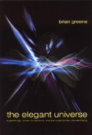 Cover art for THE ELEGANT UNIVERSE