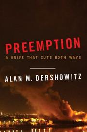 PREEMPTION by Alan M. Dershowitz