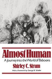 ALMOST HUMAN by Shirley C. Strum