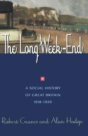 THE LONG WEEK-END by Robert Graves