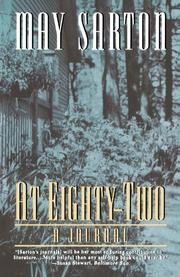 AT EIGHTY TWO: A Journal by May Sarton