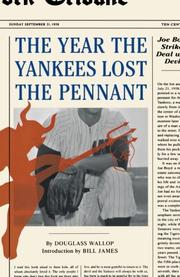 THE YEAR THE YANKEES LOST THE PENNANT by Douglas Wallop