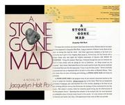 A STONE GONE MAD by Jacquelyn Holt Park