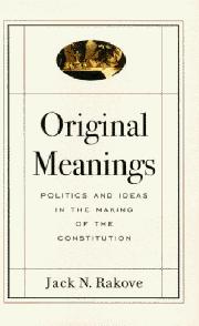 Cover art for ORIGINAL MEANINGS