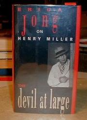 THE DEVIL AT LARGE by Erica Jong
