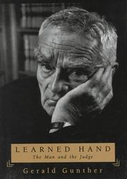 LEARNED HAND by Gerald Gunther