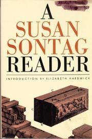 A SUSAN SONTAG READER by Susan Sontag