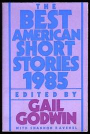 Cover art for THE BEST AMERICAN SHORT STORIES, 1985