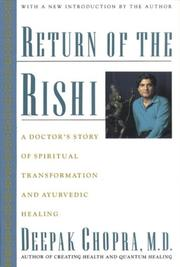 RETURN OF THE RISHI by Deepak Chopra