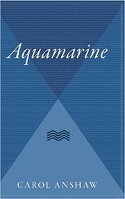 AQUAMARINE by Carol Anshaw